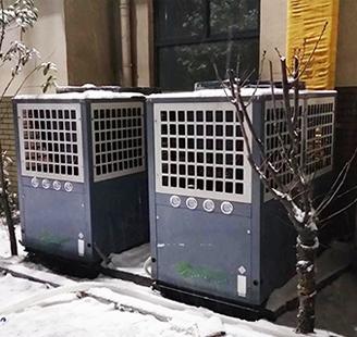 山东省聊城世纪健身会所2台15匹低温地暖配1200平米